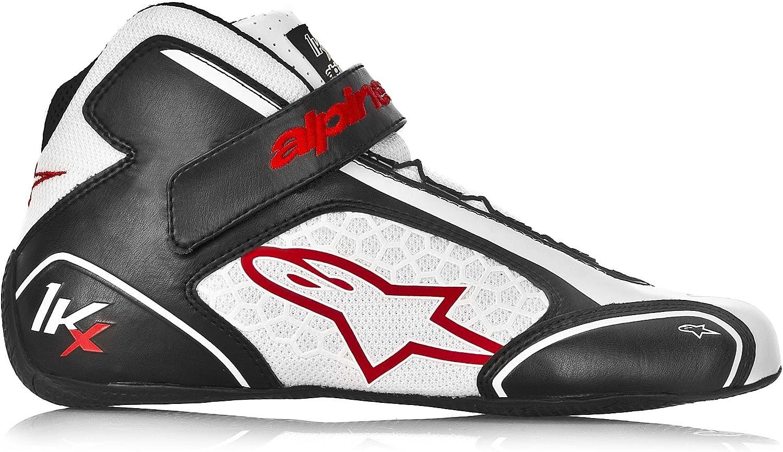 Alpinestars 2712113-12-5 Black//White Size-5 Tech 1-KX Karting Shoes
