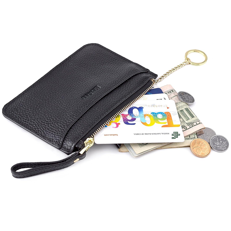 MaxGear RFIDブロックウォレット クレジットカードホルダー クレジットカード財布 本革ウォレット B073PXX122 Coin Purse-black Coin Purse-black