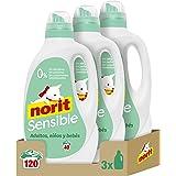 Norit Sensible- Detergente Líquido para Pieles Sensibles y Atópicas, Hipoalergénico - Pack de 3 Unidades de 2120 ml: 6…