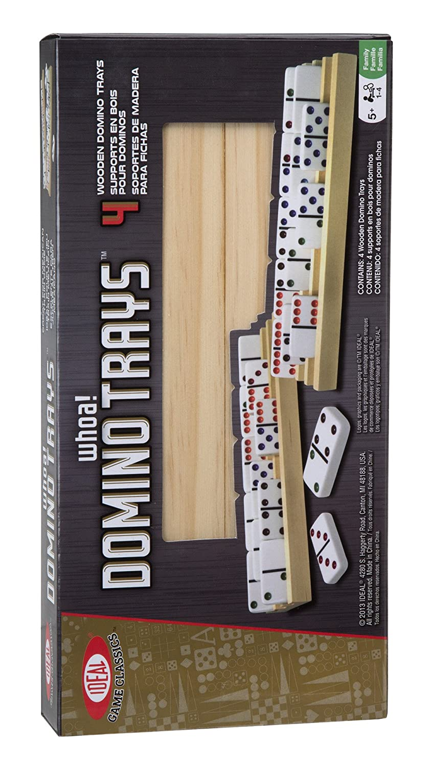 Ideal Solid Wood Domino Trays