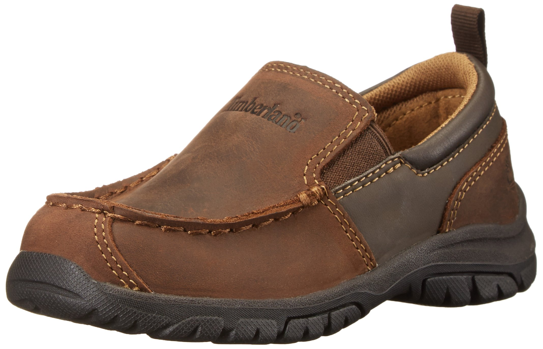 Timberland Discovery Pass Moc Toe Moc Toe Slip-On (Toddler/Little Kid/Big Kid),Brown,13 M US Little Kid
