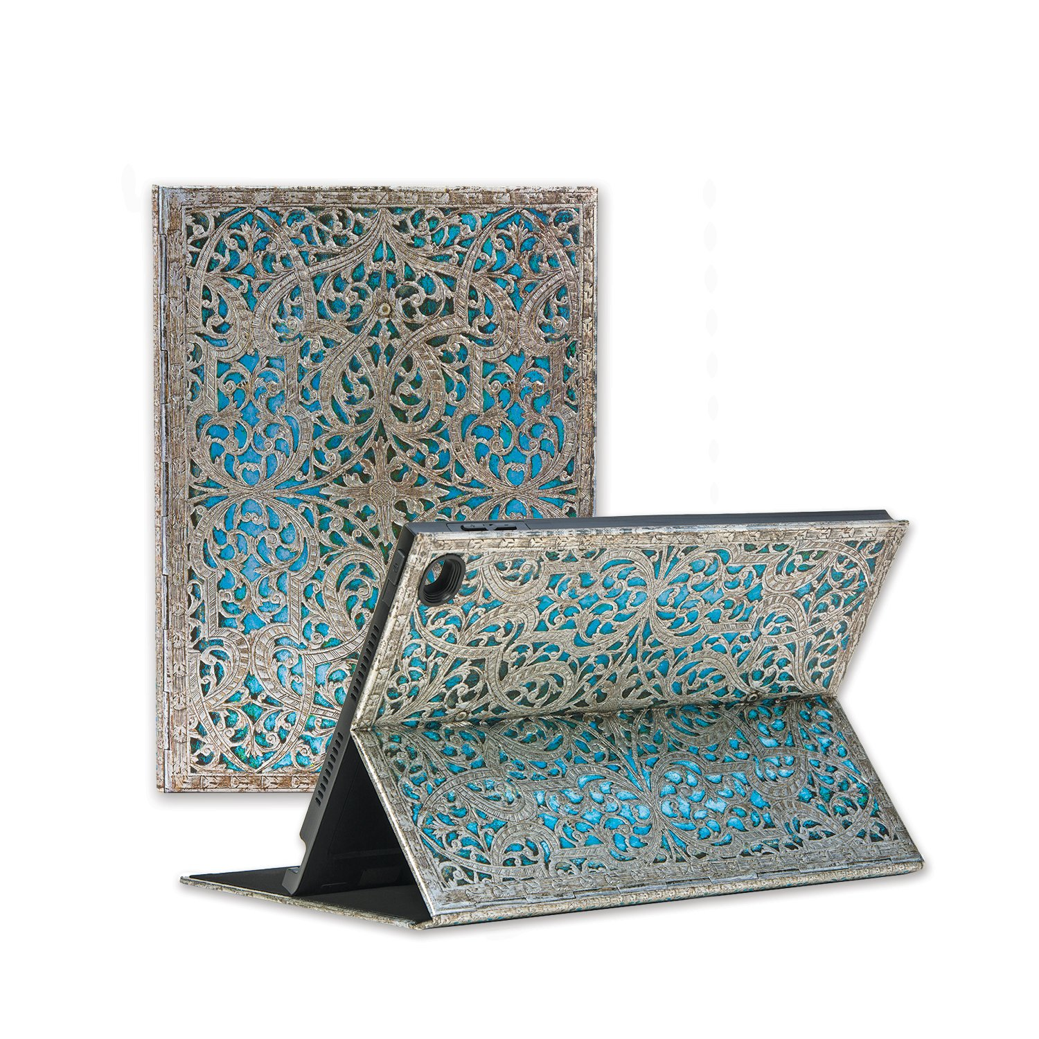 Paperblanks eXchange case for Apple iPad Pro 9.7 / Air 2, Infinite Viewing Angle Case – Maya Blue Design