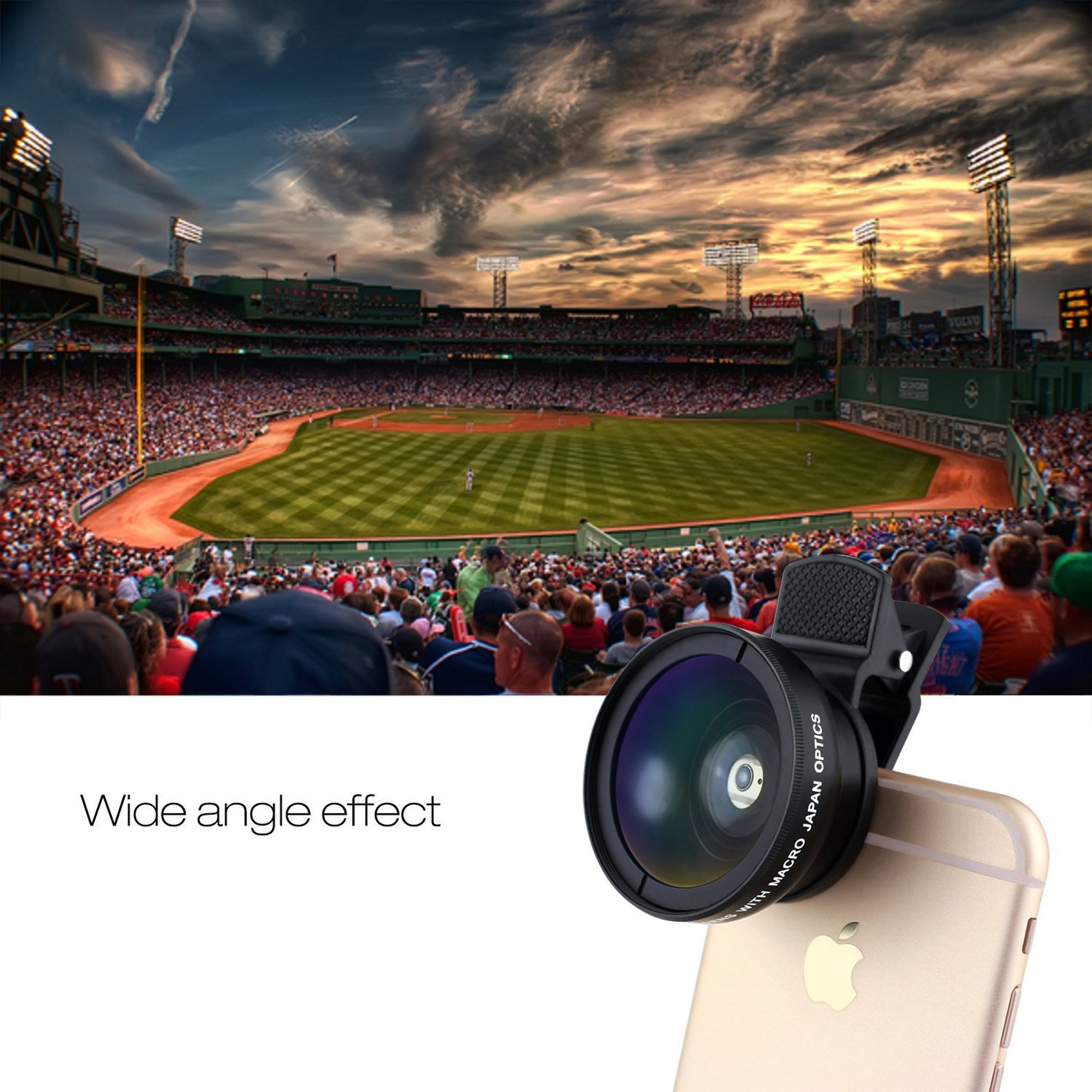SOCIALITE Professional HD Camera Photo & Video Clip On Lens Kit for iPhone Smartphone 6s 7 8 X Plus Mobile Phone Android, & Samsung 0.45x Super Wide Angle Lens 12.5x Macro by Socialite (Image #2)