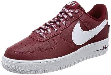ZAPATILLAS NIKE AIR FORCE 1 ROJO/BLANCO 45 Rojo: Amazon.es: Zapatos y complementos