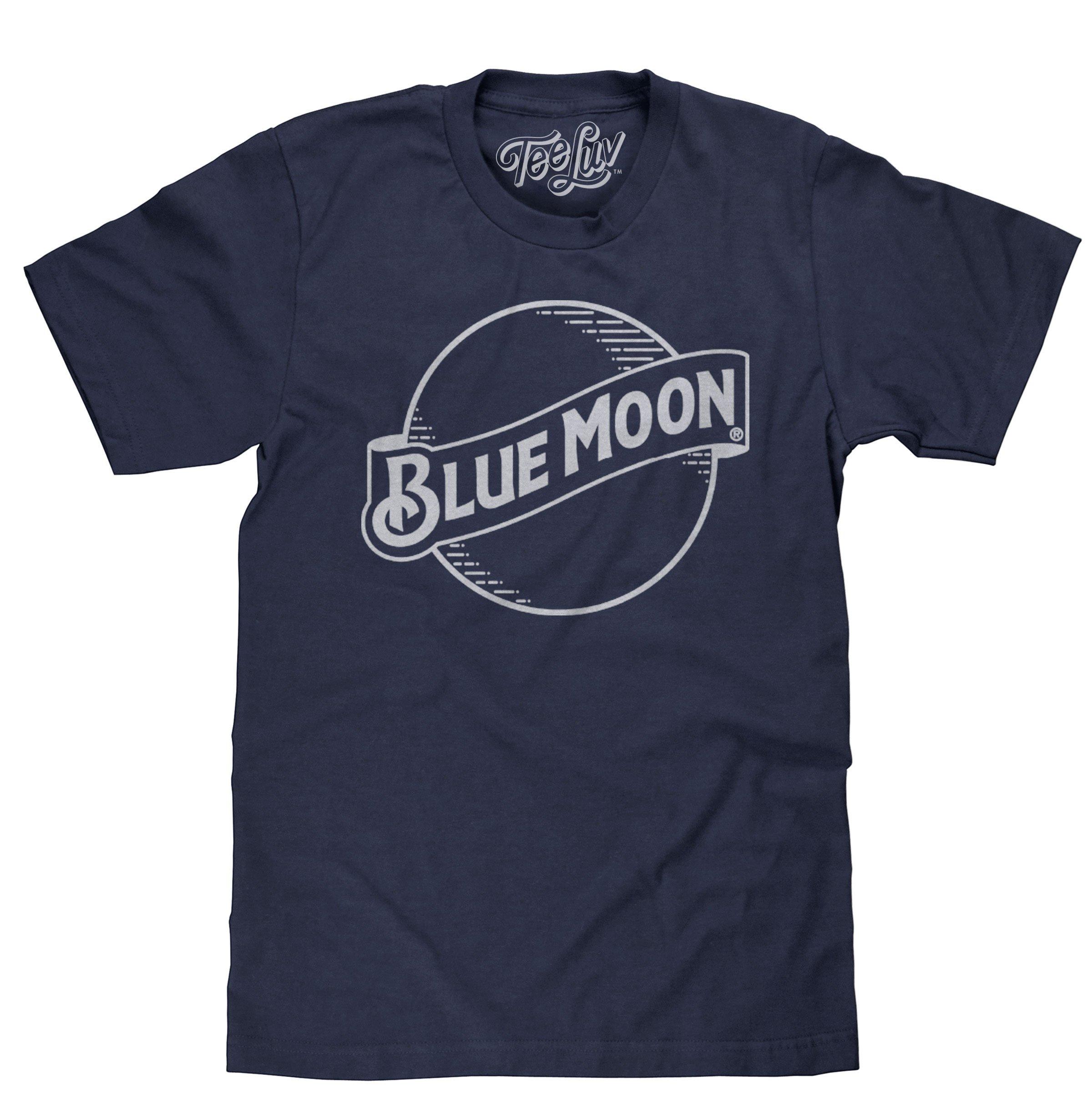 Blue Moon Beer Tshirt Blue Moon Brewing Company Logo Shirt