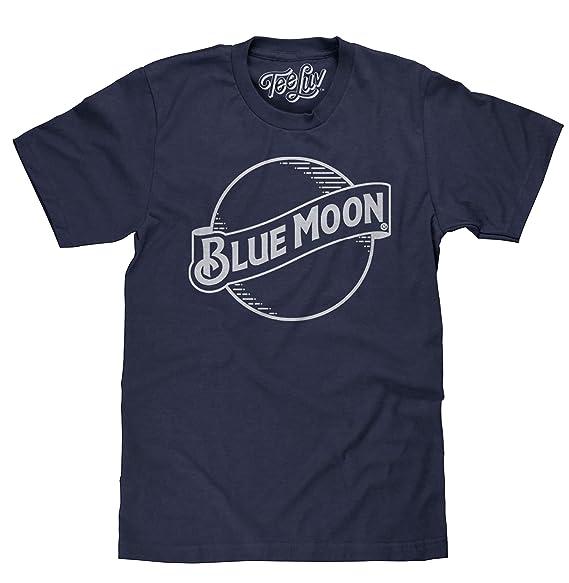 d87237df62122 Tee Luv Blue Moon Beer T-Shirt - Blue Moon Brewing Company Logo Shirt (