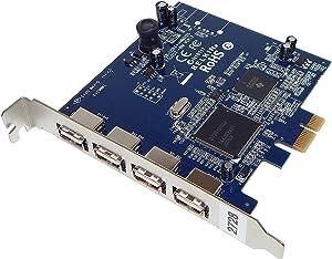 Belkin Hi-Speed USB 2.0 4-Port PCIe Card F5U252 Card Only 4-External Ports