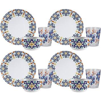 Zak! Designs 12-Piece Marrakesh Dinnerware Set Includes 4 Pieces of Each  sc 1 st  Amazon UK & Zak! Designs 12-Piece Marrakesh Dinnerware Set Includes 4 Pieces of ...