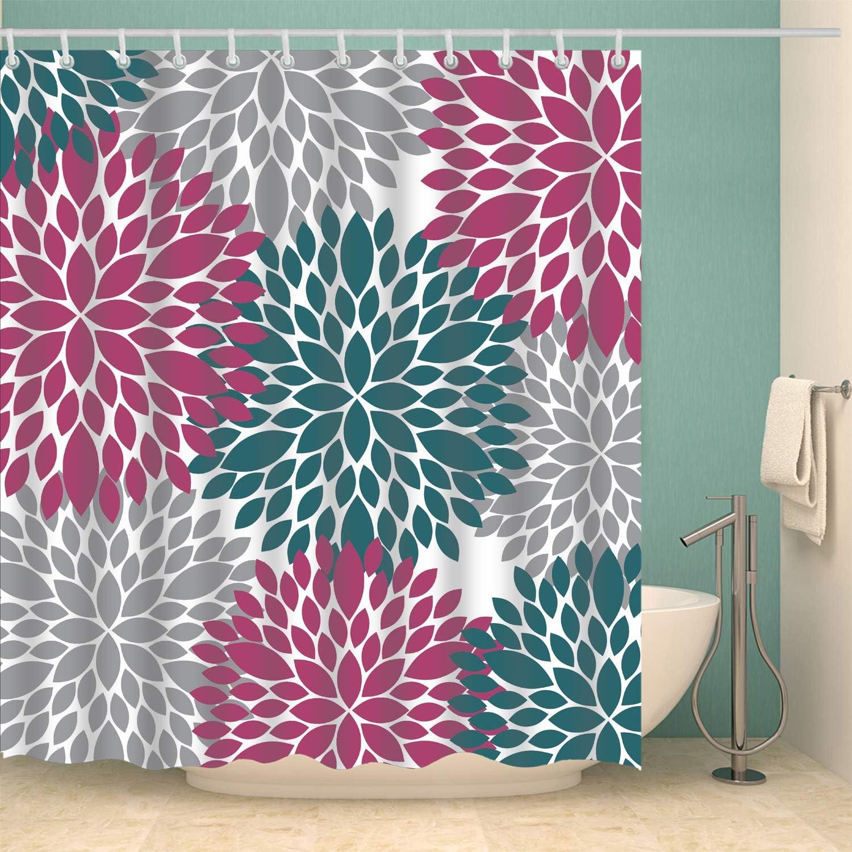 Amazon Com Broshan Multicolor Shower Curtain Polyester Fabric