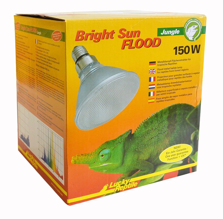 LUCKY REPTILE Bright Sun UV Jungle Lampe à vapeur métallique Culot E27Rayons UVA et UVB BSFJ-150