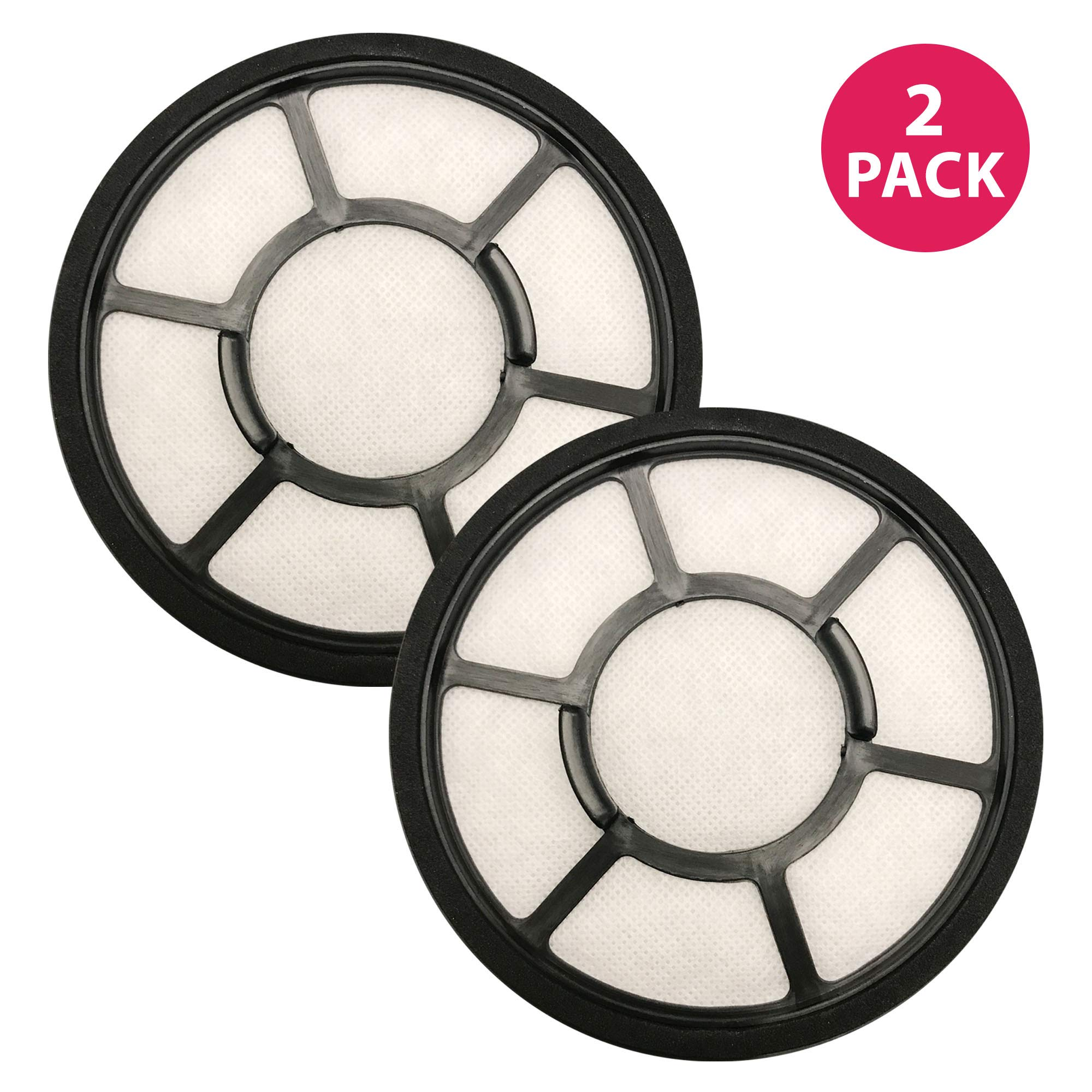 Think Crucial Replacement Vacuum Filters - Compatible with Black & Decker 5.5 x 5.5 x 1 Circular Pre Filter Part, Fits Vacuum Cleaner Model Parts BDASV102 Airswivel Vacuum Cleaners - (2 Pack)