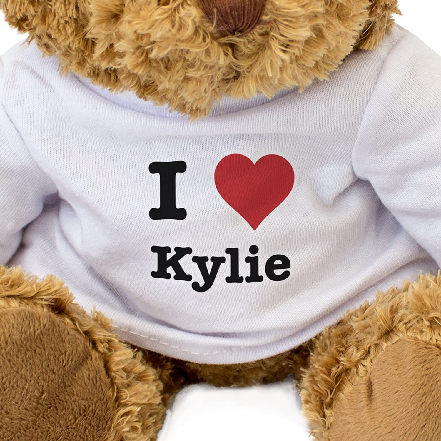 NEW Teddy Bear Cute And Cuddly I LOVE KYLIE Gift Present Birthday Xmas Valentine London Teddy Bears