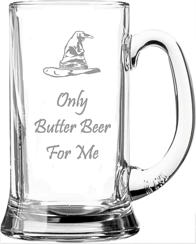 Lapal Dimension Jarra de Vidrio de Media Pinta Inspirada en Harry Potter de la Marca Only Butter Beer For Me
