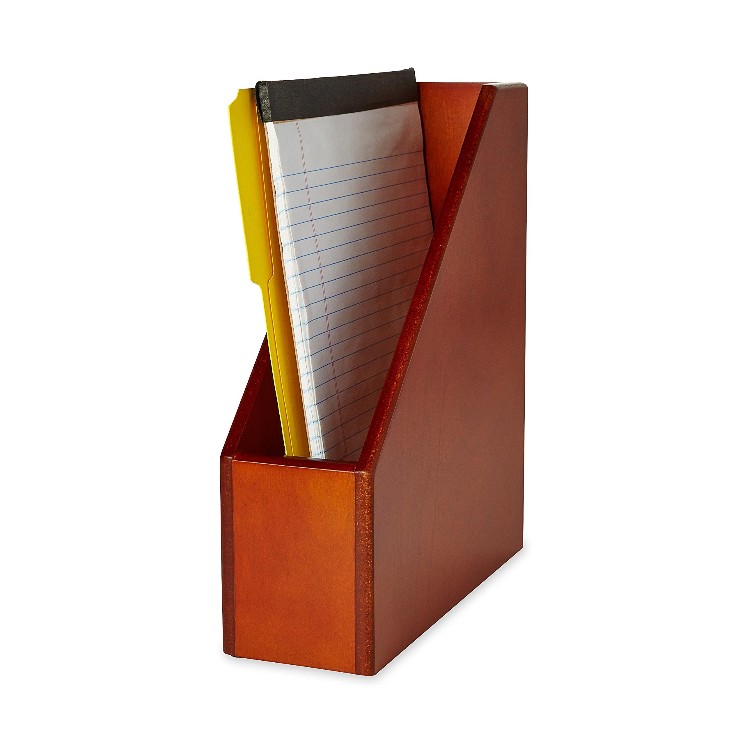 Rolodex Wood Tones Magazine File, 3.5 x 10.25 x 11.75-Inch, Mahogany (4079)