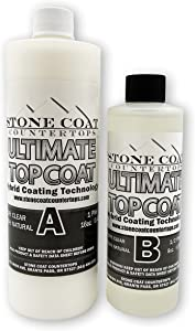 Ultimate Top Coat (Stone Coat Countertops) - Scratch-Resistant & UV-Resistant Epoxy Enhancer! Finish and Coat Epoxy Projects with Revolutionary Hybrid Coating Technology!