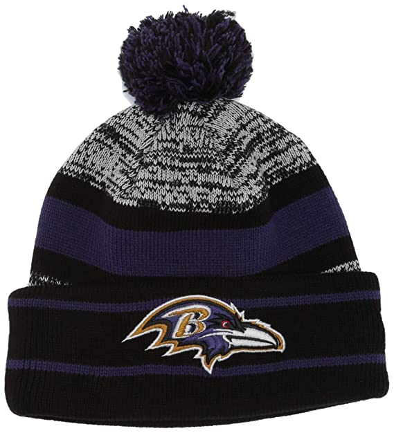 db939dc3548ba5 Amazon.com : NFL Baltimore Ravens Pom Knit Beanie, One Size, Purple :  Clothing