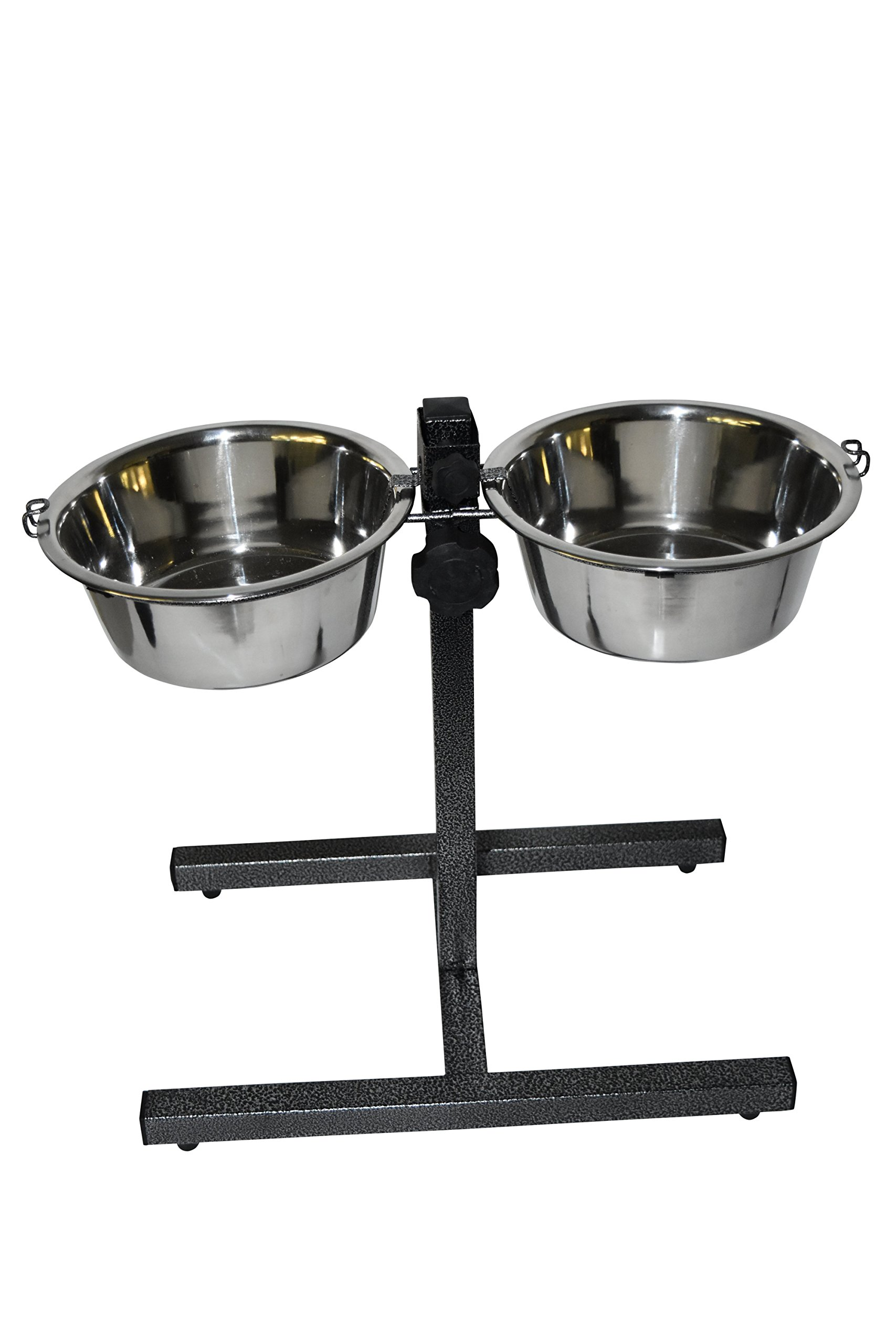 Stellar Bowls Adjustable Double Diner with H Base with 2 bowls, 5-quart