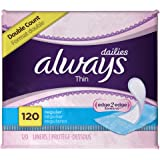 Always Thin Dailies Unscented Wrapped Liners, Regular