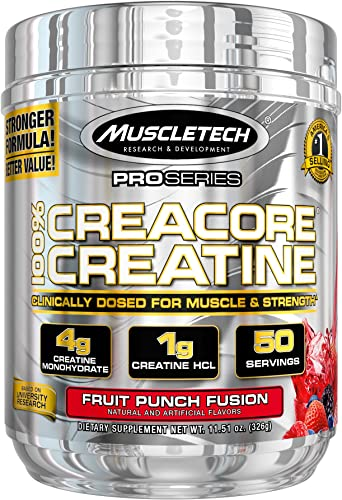 MuscleTech Fruit Punch Fusion 50 Servings Creatine, 11.51 Ounce