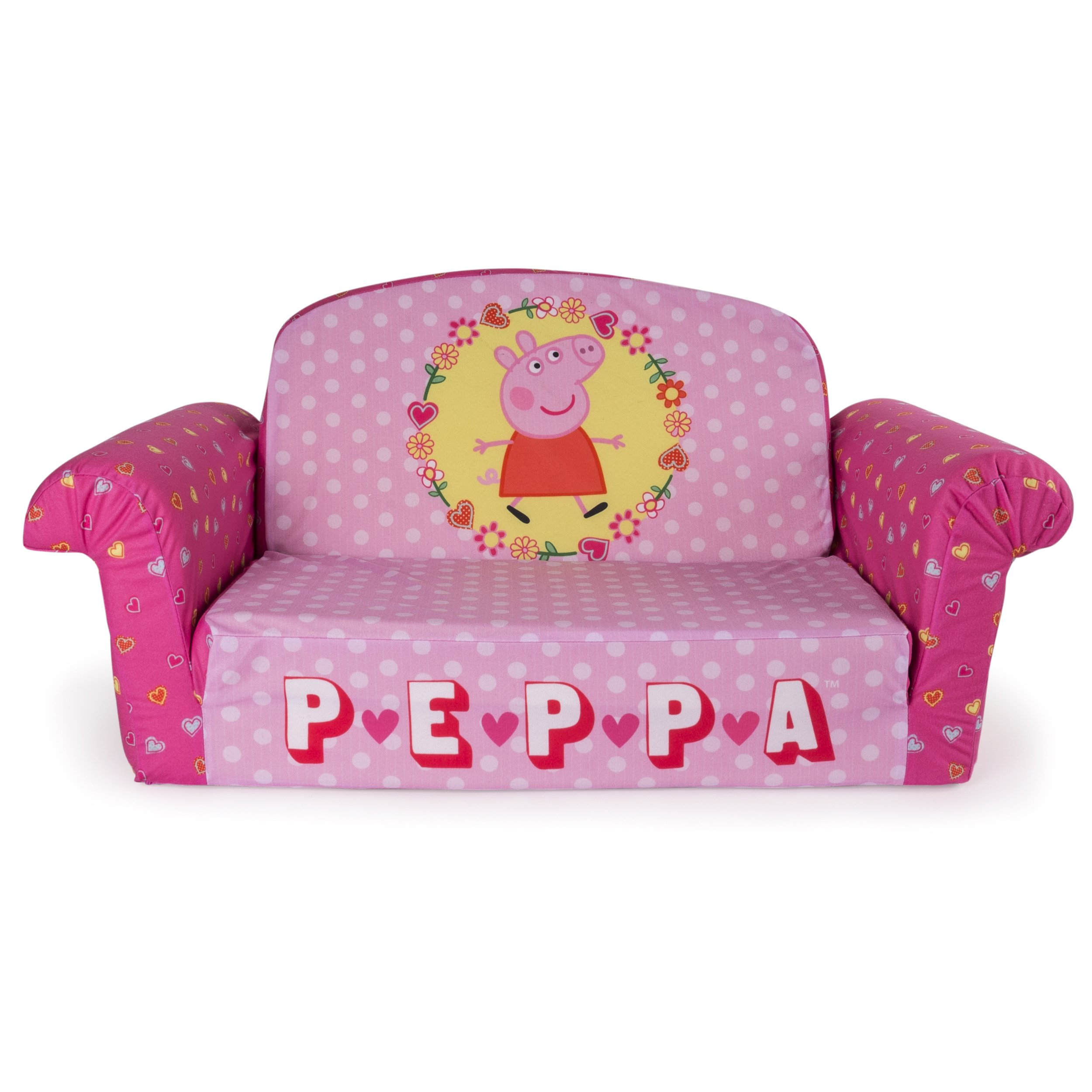 Marshmallow Furniture Children S 2 In 1 Flip Open Foam Sofa Peppa