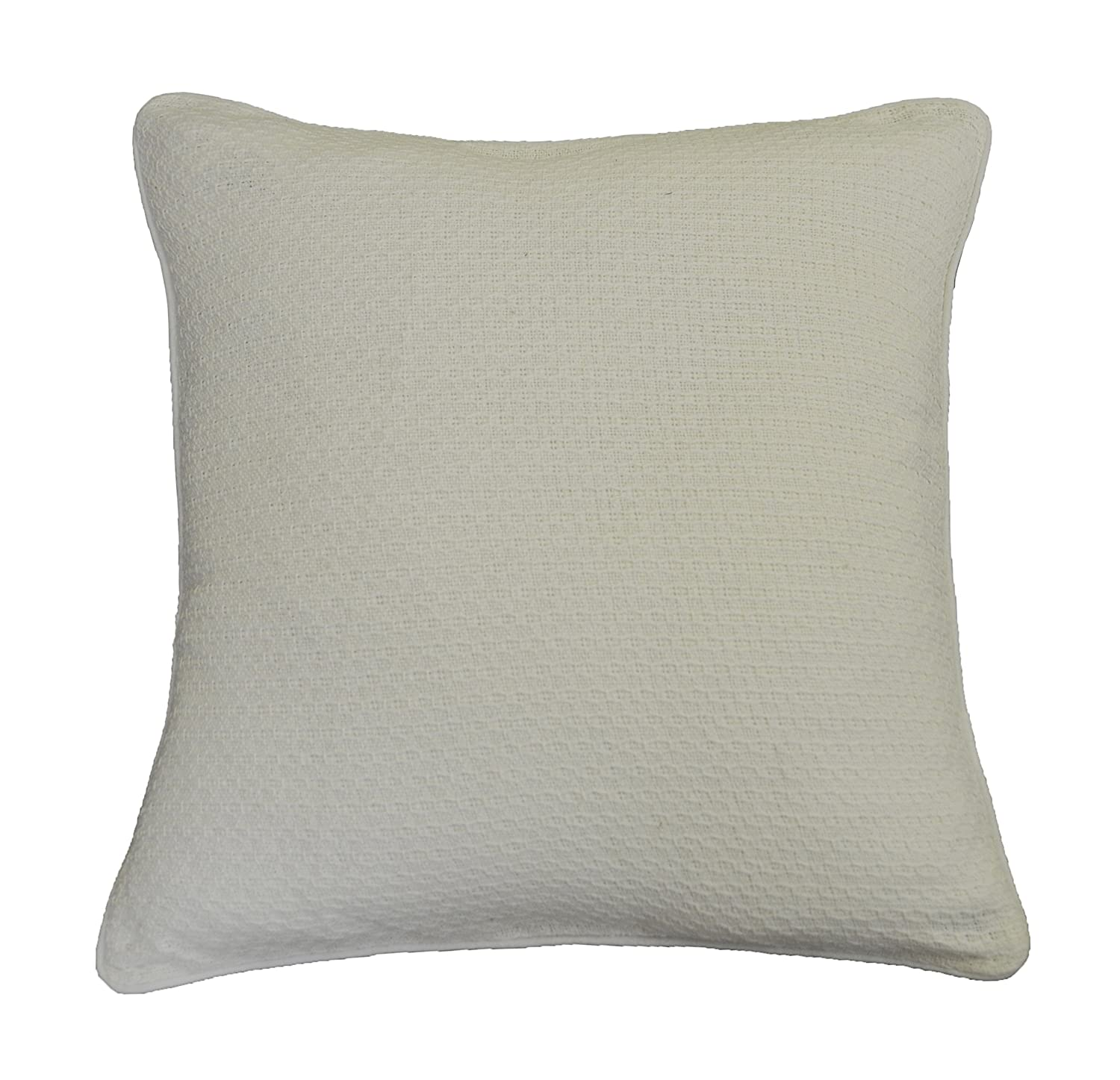 AM Home 0410 Diamond Stitch Pillow with Piping 14 x 26 Natural