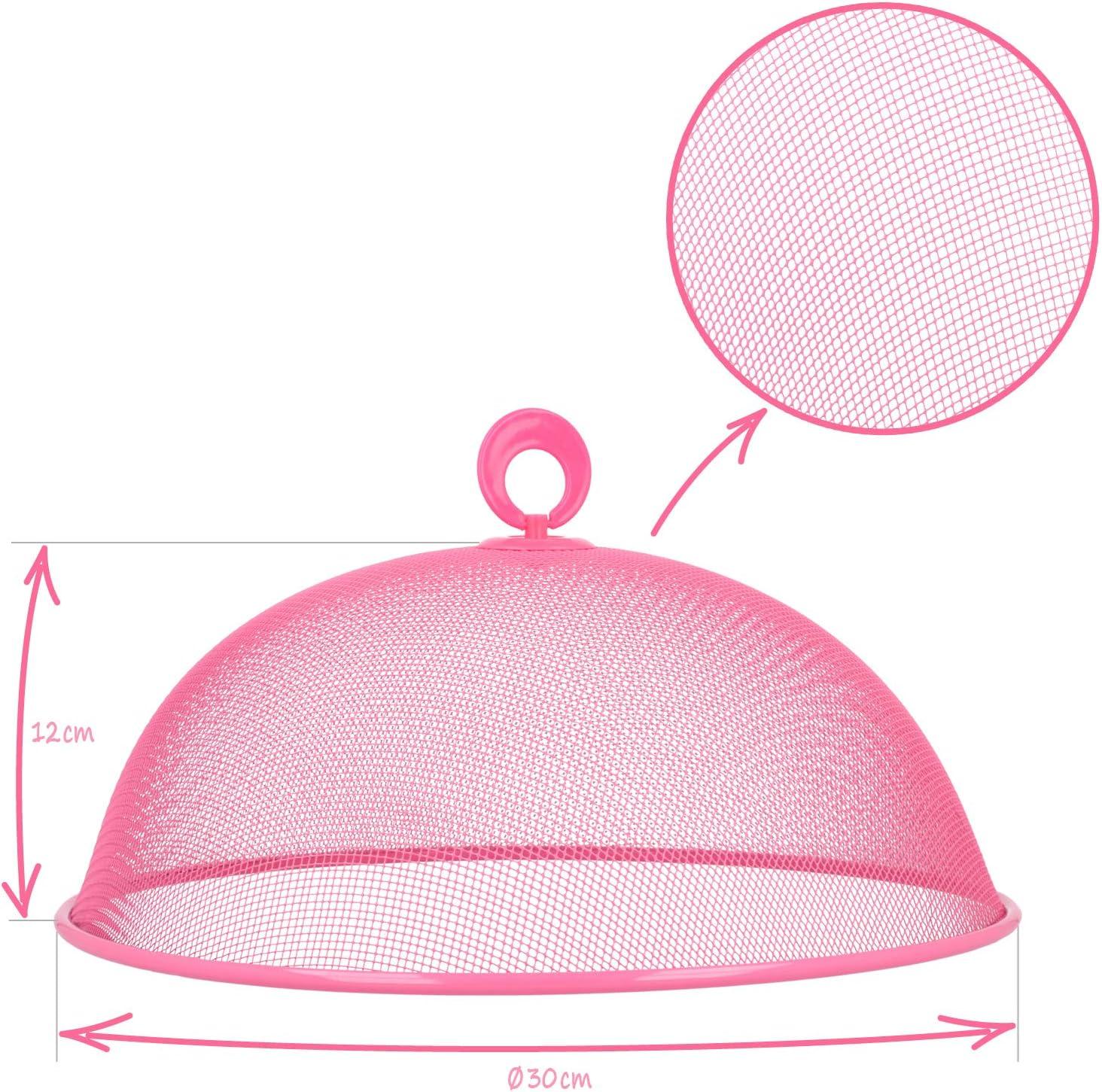 sombrilla de comedor colorida COM-FOUR/® cubierta 2x para alimentos /Ø 30 cm caperuza met/álica