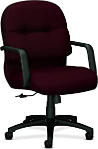 HON Executive Chair - Pillow-Soft Series Mid-Back Office , Red (H2092)