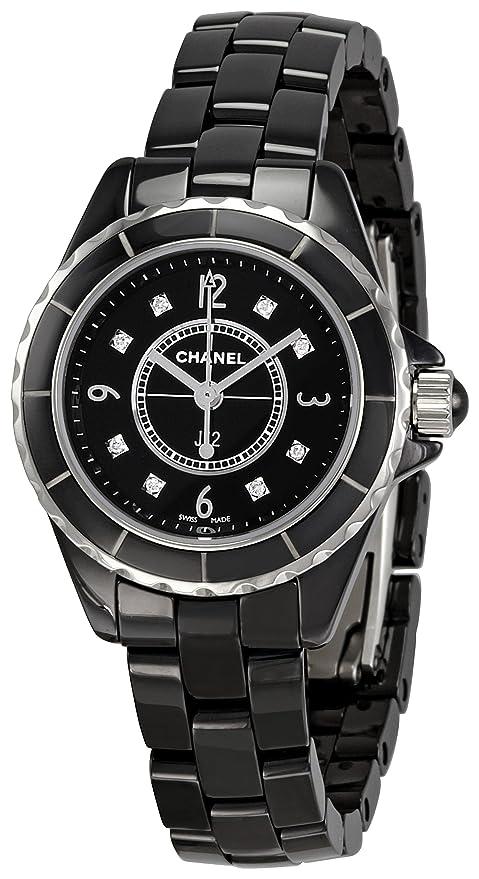 Chanel H2569 - Reloj de Pulsera Mujer, Cerámica, Color Negro: Amazon.es: Relojes