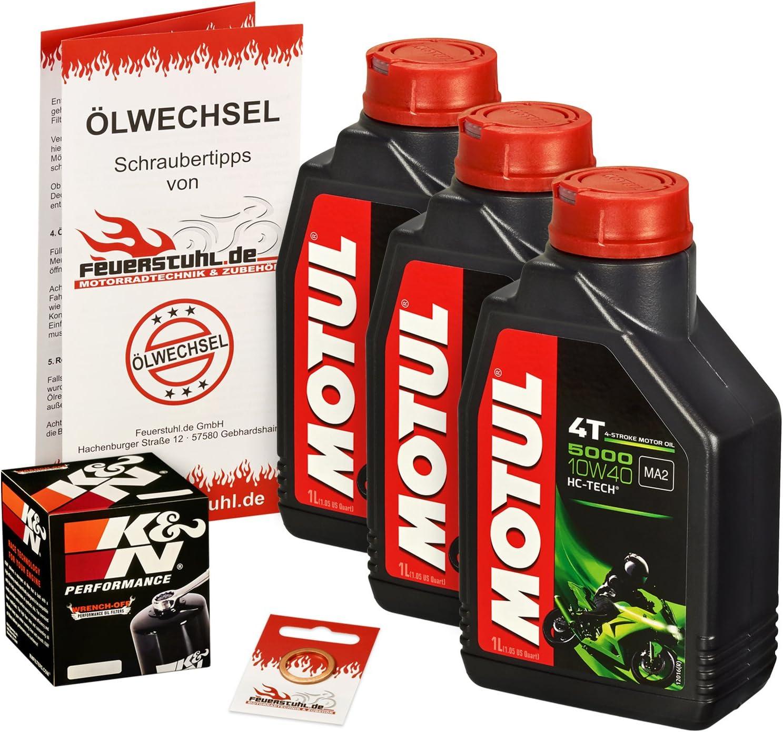 Motul 10w 40 Öl K N Ölfilter Für Yamaha Fz6 Fazer 04 06 Rj07 Ölwechselset Inkl Motoröl Filter Dichtring Auto