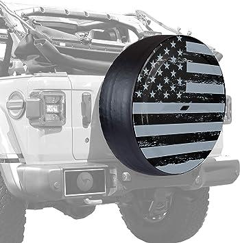 - Black Textured Jeep Wrangler JL 32 Rigid JL Tire Cover Plastic Face /& Vinyl Band