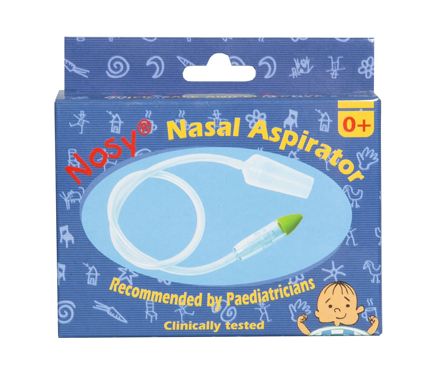 Nosy Nasal Aspirator/snotsucker -The Most Effective Nose Cleaner for Sinus Congestion Cold and flu. Safe, Gentle Fast Nose Suction for Newborns Infants