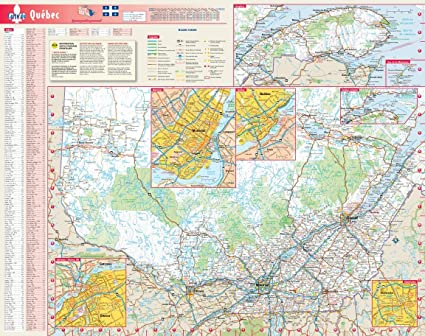 Carte du Québec, en français - Mapa de pared de plástico mate de 48 x 61 cm: Amazon.es: Oficina y papelería