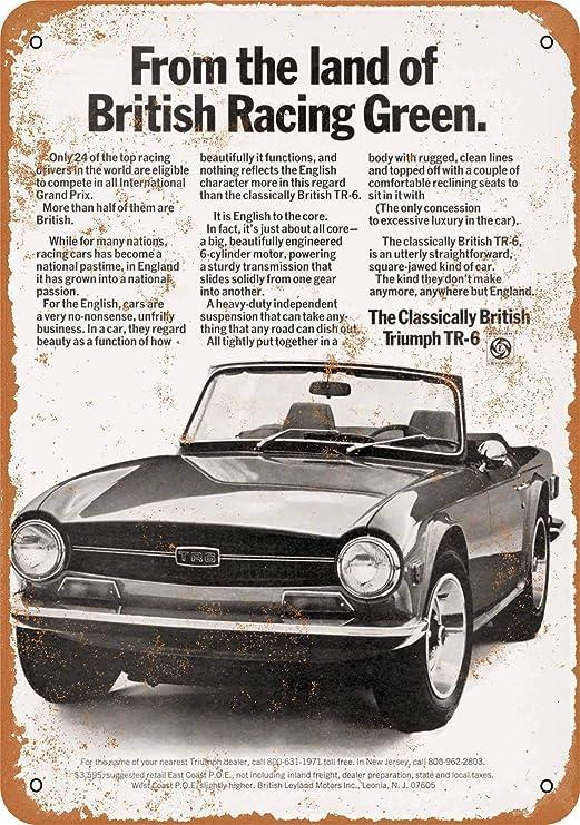 Triumph TR6 sign . British Leyland
