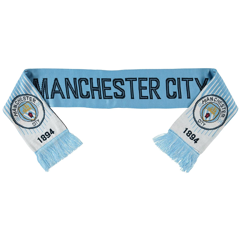 マンチェスターシティサッカー/フットボールクラブ公式新しい両面スカーフ B078BTZHC2