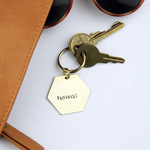 Amazon.com  Feminist - Brass Keychain  46e9c08394
