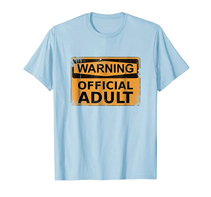Mens 18th Birthday Gifts Warning Official Adult T Shirt Funny 2XL Baby Blue