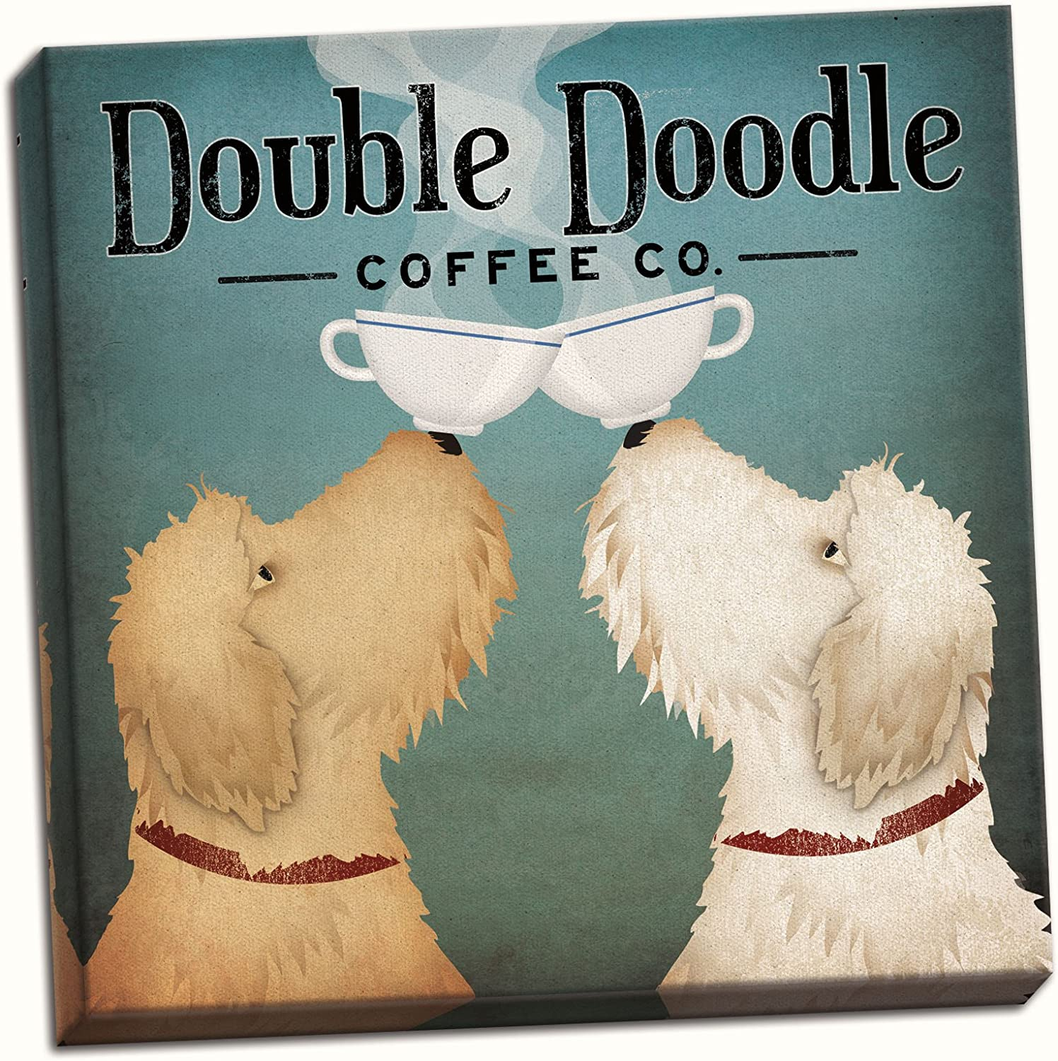 Gango Home Décor Adorable Doodle Doodle Coffee Company Print by Ryan Fowler; One 16x16 Hand-Stretched Canvas