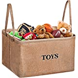 Storage Bin, MaidMAX XL Flax Kids Collapsible Storage Basket Organizer for Clothing, Children Books, Gifts or Laundry, Brown