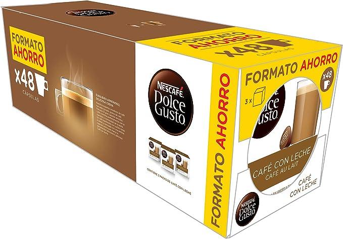Exclusivo Nescafé Dolce Gusto Café con Leche, Pack de 3 x 16 Cápsulas - Total: 48 Cápsulas de Café: Amazon.es: Alimentación y bebidas
