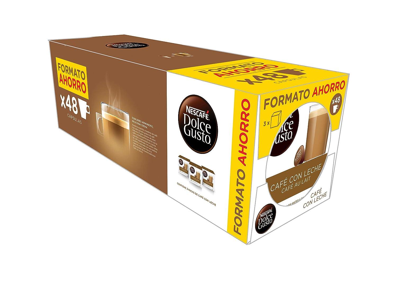 48 cápsulas de café con leche Nescafé Dolce Gusto (3 paquetes de 16) por 10€ ¡¡33% de descuento!!