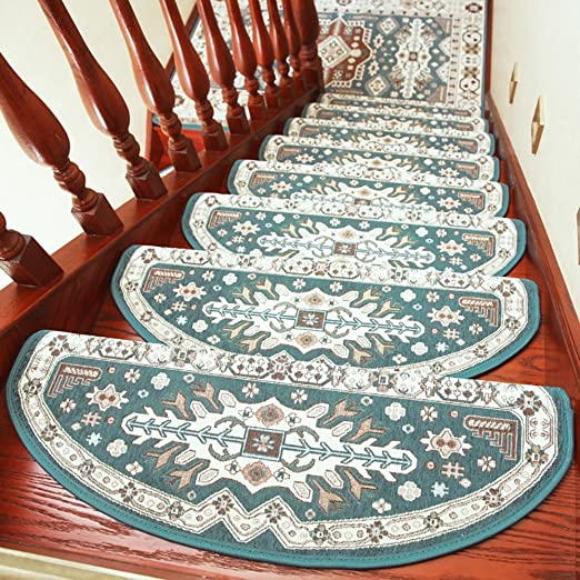ZZHF Escaleras de Madera Maciza/Rotar/Escalera/Sin Adhesivo Escalera autoadhesiva/Alfombra Antideslizante para el hogar (Un Paquete de 1) alfombras de habitacion (Color : B, Tamaño : 24 * 80cm): Amazon.es: Hogar