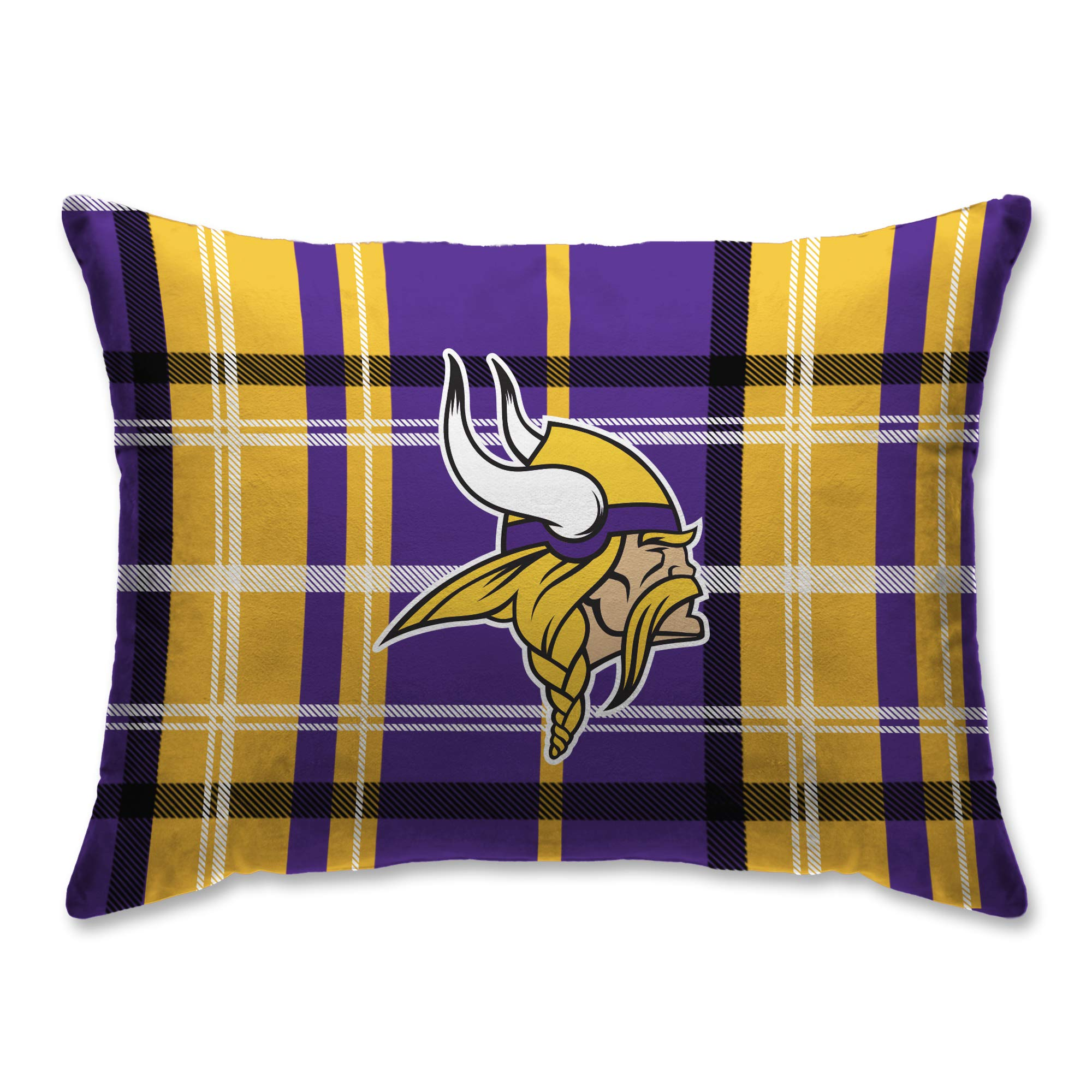 Pegasus Sports Minnesota Vikings Plaid 20'' x 26'' Plush Bed Pillow, Set of 2#598058987 by Pegasus Sports