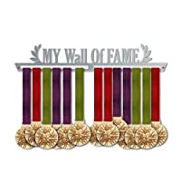 My Wall of Fame Medal Hanger Display   Motivational Medal Hanger   Stainless Steel Medal Display   by VictoryHangers - The Best Gift For Champions !