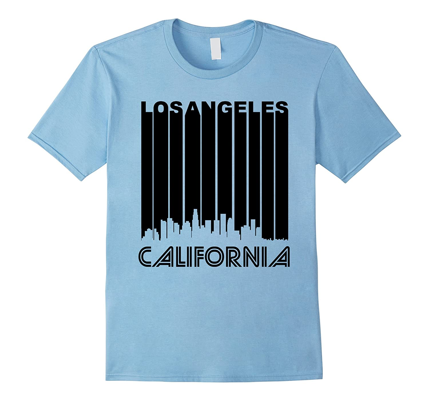 Retro 1970s Los Angeles California Downtown Skyline T
