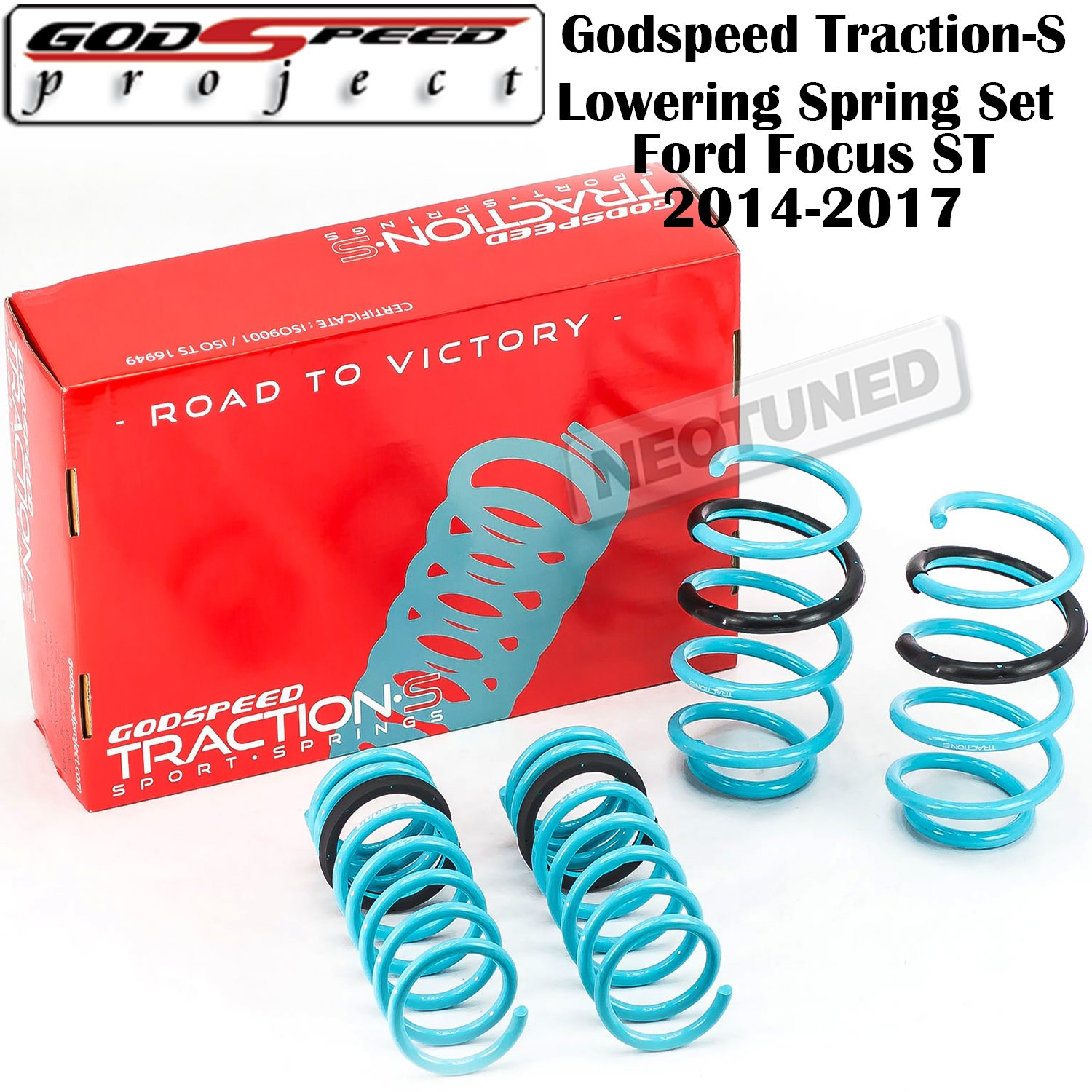Godspeed Ls Ts Fd 0005 Traction S Lowering Spring Set 2014 Ford Focus Suspension For St 2011 2015 Gsp Kit Automotive