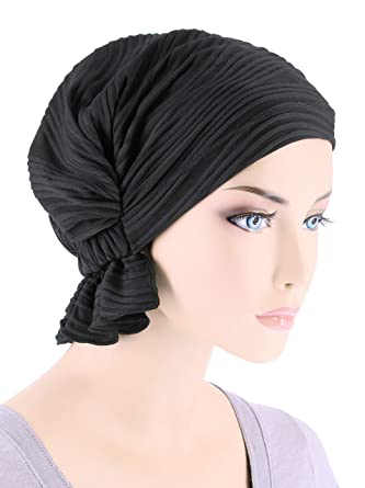 Abbey Cap Womens Chemo Hat Beanie Scarf Turban Headwear for Cancer Blended  Knit Wave Black 225ae0c64d9