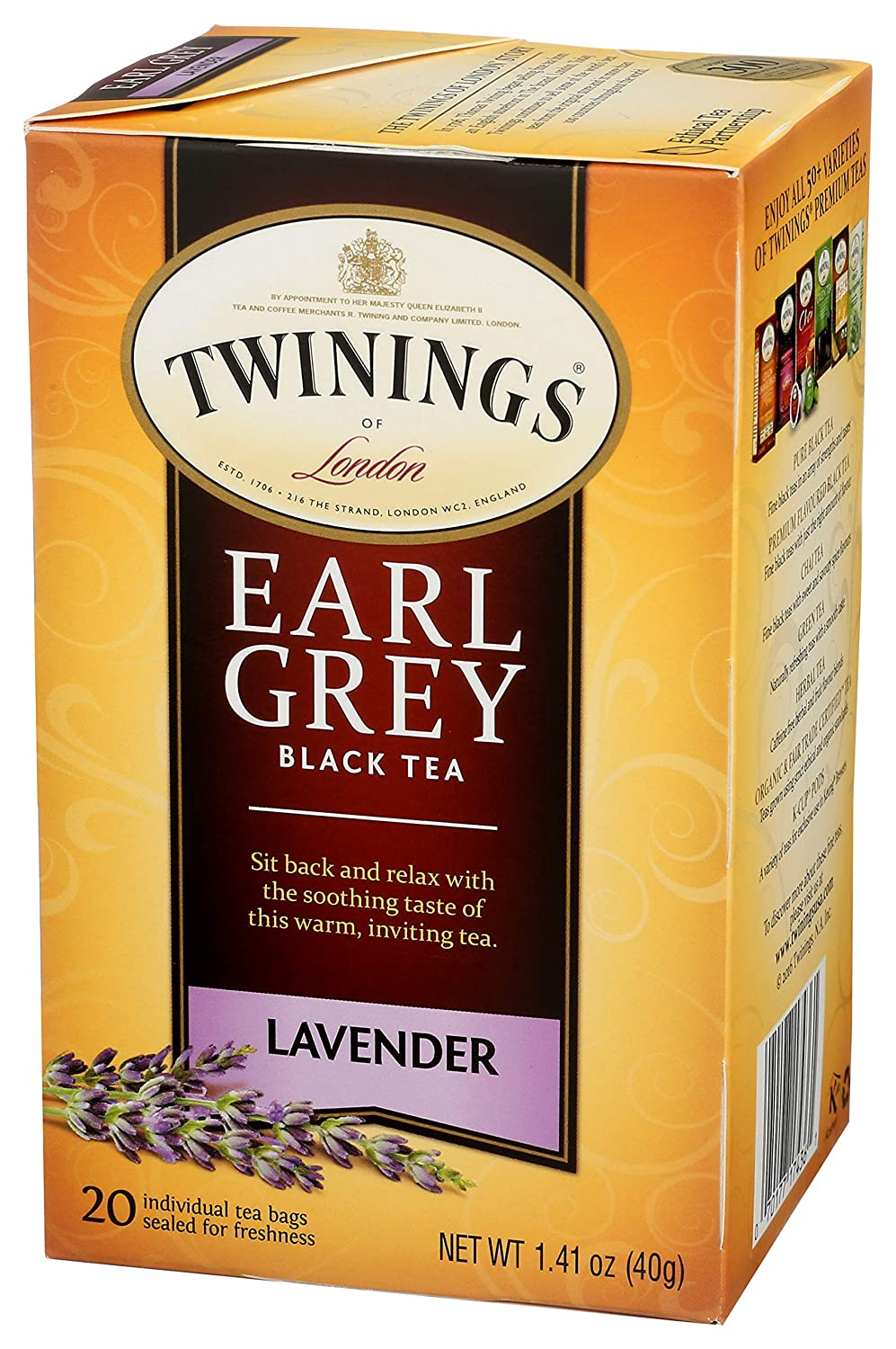 Twining Tea Lavender Earl Grey, 1.41 oz (20 COUNT)