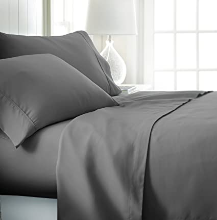 Ienjoy Home Hotel Collection Luxury Soft Brushed Bed Sheet Set,  Hypoallergenic, Deep Pocket,