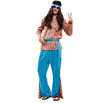 f9d8025c0 My Other Me Me-201990 Disfraz de hippie psicodélico para hombre,  Multicolor, ML (Viving Costumes 201990