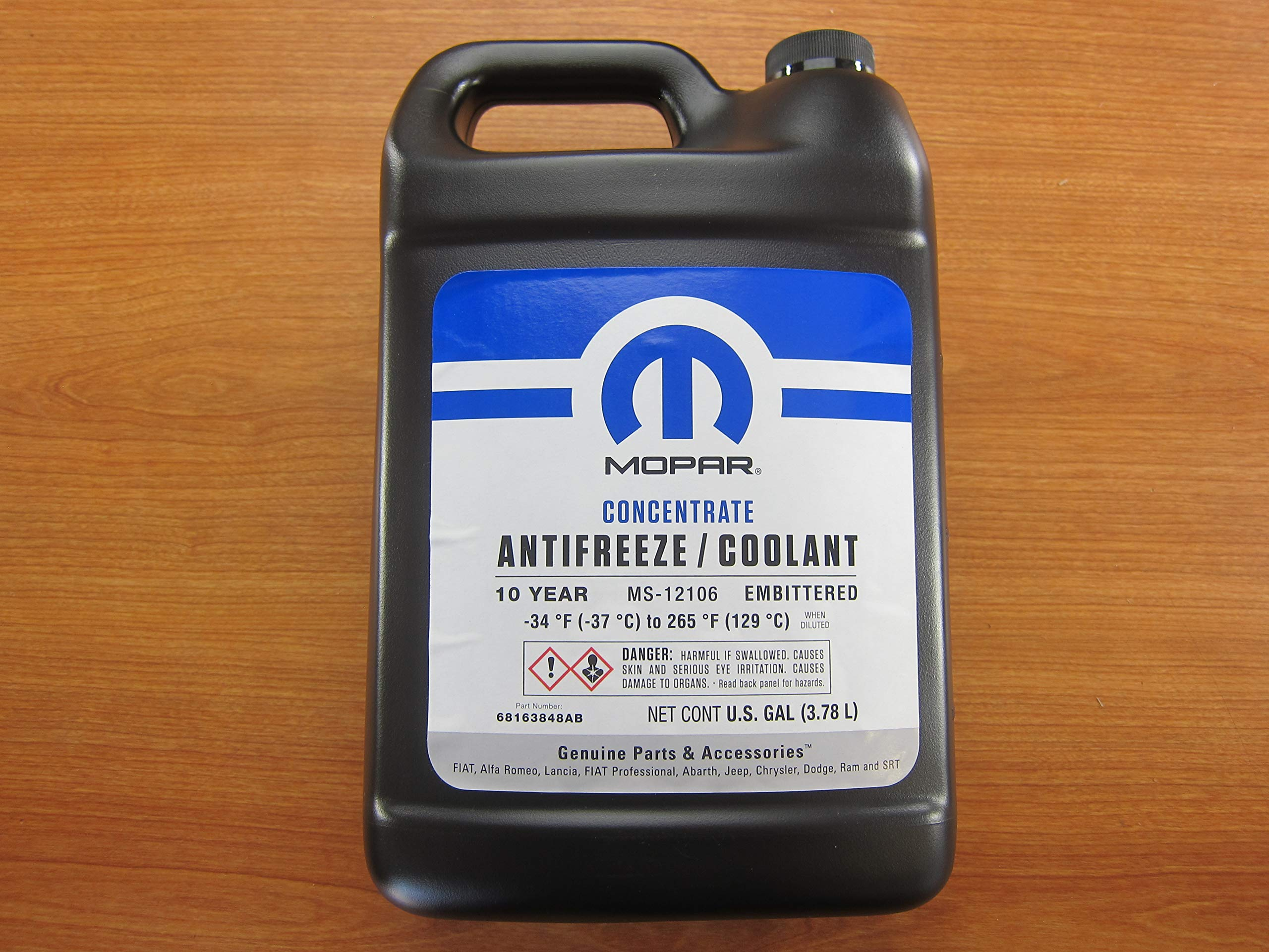 Mopar Chrysler Dodge Fiat Jeep Ram 10 Year Antifreeze/Coolant Concentrated OEM